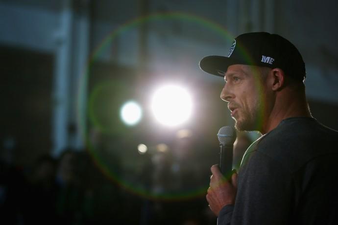 Mick Fanning, em entrevista coletiva em Sidney, Austrália (Foto: Getty Images)