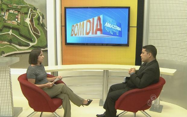 Entrevista no quadro Seus Direitos, Seus Deveres (Foto: Reprodução/TV Amapá)