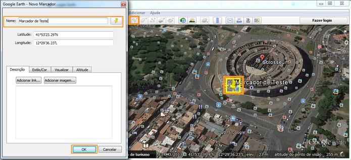 Adicionando um marcador no mapa (Foto: Reprodução/Barbara Mannara)
