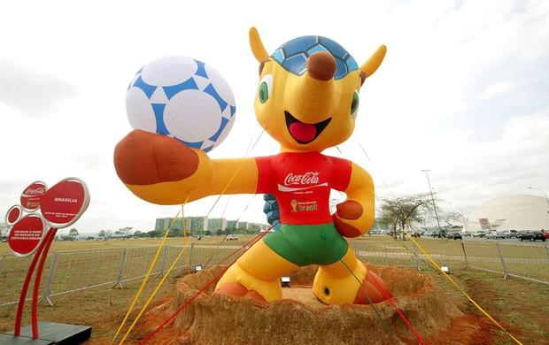 Tatu-bola, mascote oficial da Copa de 2014 Brasília  (Foto: Glauber Queiroz / Portal da Copa)