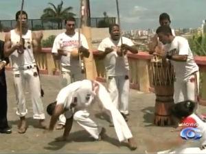 Capoeira é reconhecida como patrimônio cultural da humanidade (Foto: Reprodução/ TV Gazeta)