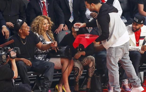 Beyonc Com O Marido Jay Z No NBA All Star Game Foto Reuters