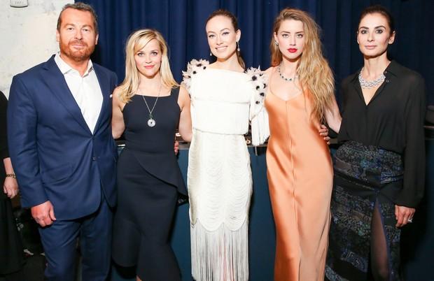 Frédéric Cumenal, Reese Witherspoon, Olivia Wilde, Amber Heard e Francesca (Foto: Divulgação)