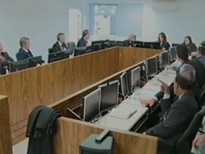 Audiência realizada na sede do TRT terminou sem acordo  (Foto: Reprodução RBS TV)