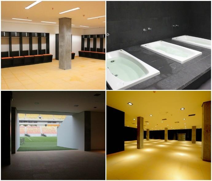 Mosaico interior vestiários da Arena da Amazônia (Foto: GloboEsporte.com)