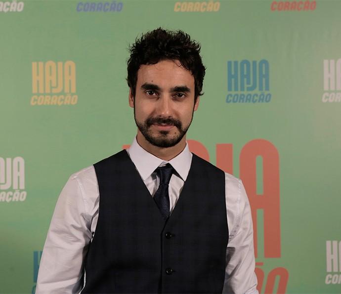 Gabriel Godoy vai dar vida a Leonardo Raposo; ele será o par romântico de Tatá Werneck, que interpreta Fedora Abdala (Foto: Ellen Soares/ Gshow)