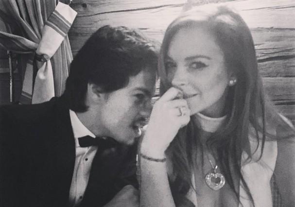 Lindsay e Egor antes da briga (Foto: Reprodução/ Instagram)