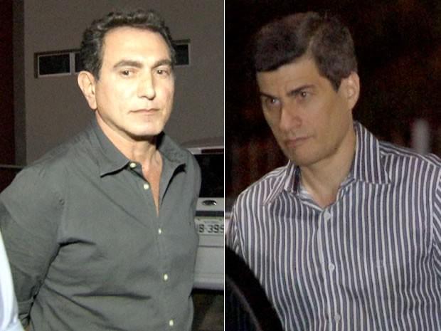 Ex-secretários Pedro Nadaf (à esquerda) e Marcel de Cursi (à direita)- Operação Sodoma (Foto: Reprodução/TVCA)
