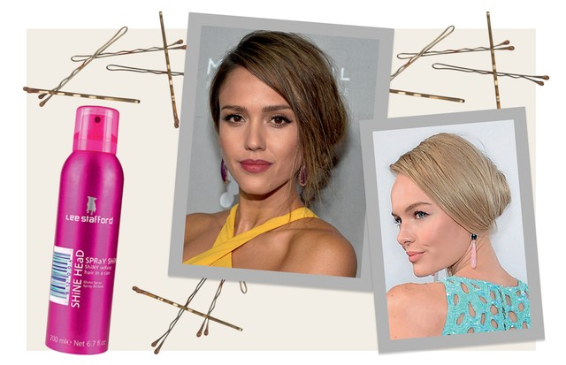 Spray finalizador Shine Head, R$ 62, Lee Stafford. Ao lado, Jessica Alba e Kate Bosworth (Foto: Reprodução Instagram, Jeff Vespa / Getty Images, Jim Spellman / Getty Images, Condé Nast Digital Archive, Thinkstock e Divulgação)
