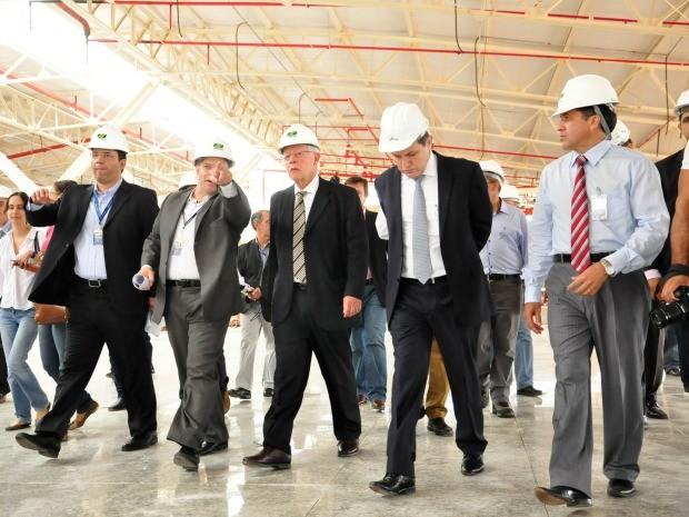 Entre a visita de janeiro e a vistoria desta segunda-feira (24), ministro Moreira Franco, da Aviação Civil, mudou o tom em relação às obras do aeroporto Marechal Rondon, em Várzea Grande, na região metropolitana de Cuiabá. (Foto: Renê Dióz / G1)