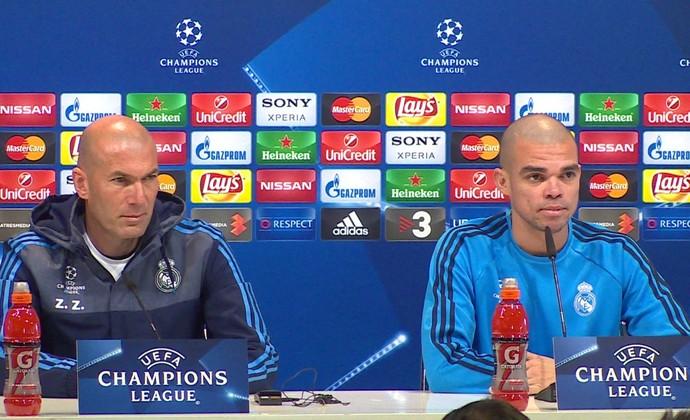 Pepe rasgou elogios a Zidane em coletiva (Foto: Ivan Raupp)
