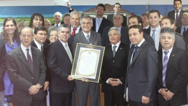 Coritiba recebe homenagem da Câmara Municipal de Curitiba pelo tetracampeonato paranaense (Foto: Divulgação / Site oficial do Coritiba)
