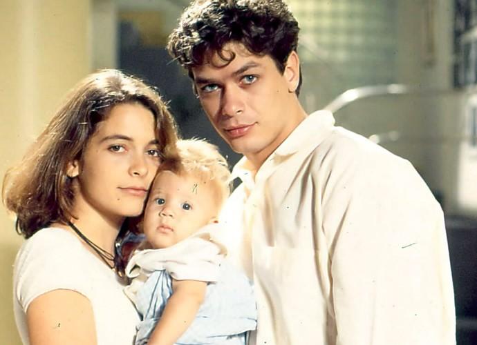 Em 'Pátria Minha', o galã fez par romântico com Cláudia Abreu (Foto: Cedoc / TV Globo)