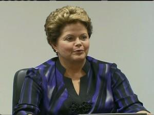 Dilma Rousseff vai discutir melhorias no serviço público com governadores e prefeitos (Foto: Reprodução Globo News)