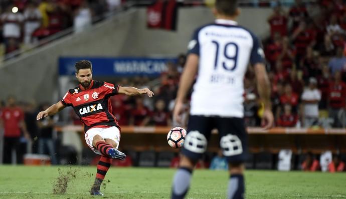 Diego Flamengo x San Lorenzo (Foto: André Durão)
