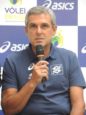 José Roberto Guimarães evento São Paulo vôlei (Foto: David Abramvezt)