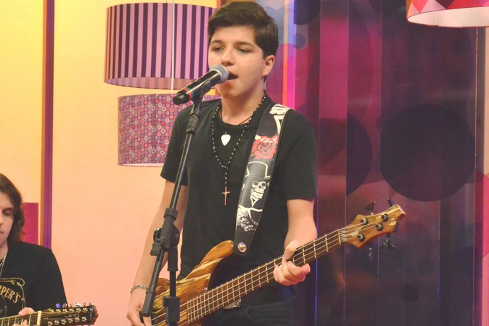 Mistura com Rodaika The Voice Kids Gabb Lippert (Foto: Maicon Hinrichsen/RBS TV)