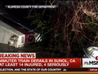 Trem descarrila e deixa ao menos 6 feridos na Califórnia, nos EUA