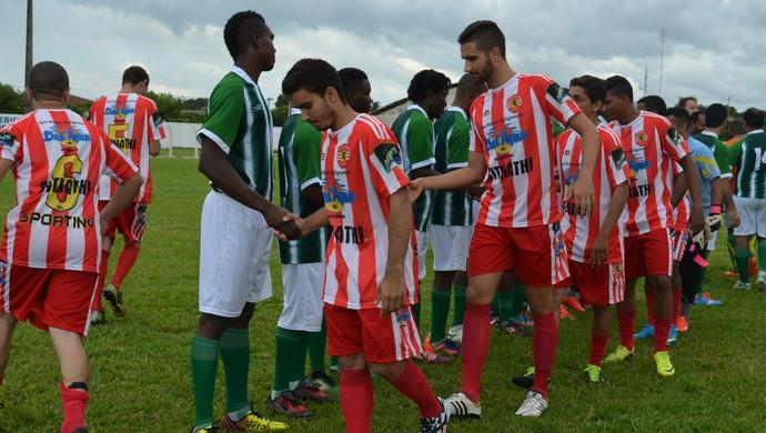 Jogo das Nações: Haiti contra Brasil. Jogo foi em Ariquemes, RO (Foto: Franciele do Vale)