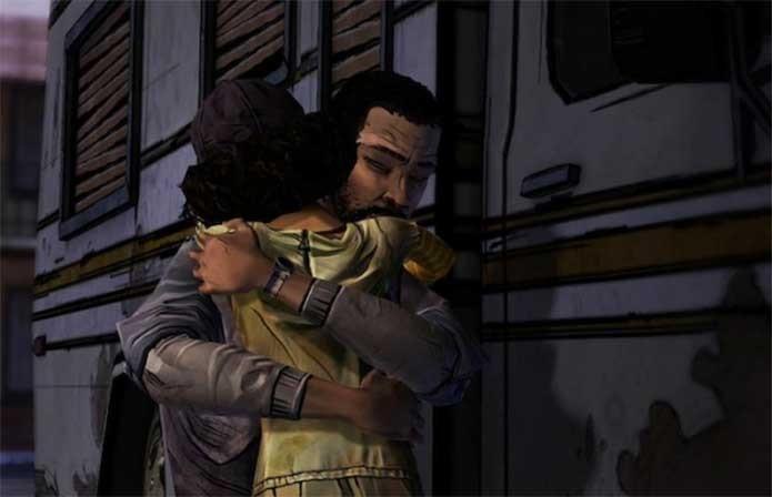 Lee se despede de Clementine em The Walking Dead (Foto: Divulgação/Telltale)