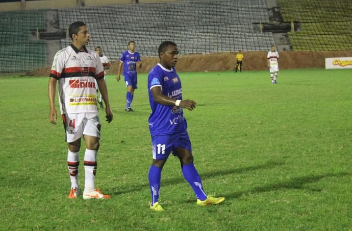Lekão, atacante Parnahyba (Foto: Antônio Fontes/GloboEsporte.com)