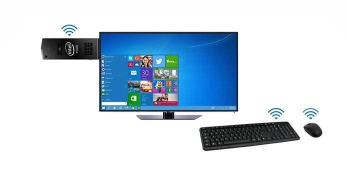 Intel Compute Stick é compacto e prático para levar seu PC no bolso (Foto: Divulgação/Intel)