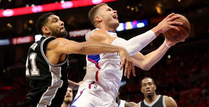 Los Angeles Clippers X San Antonio Spurs (Foto: Getty Images)