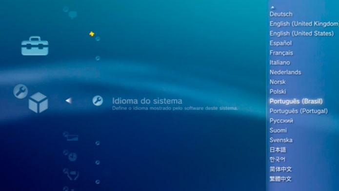 Altere o idioma do sistema para jogar em português (Foto: Divulgação)