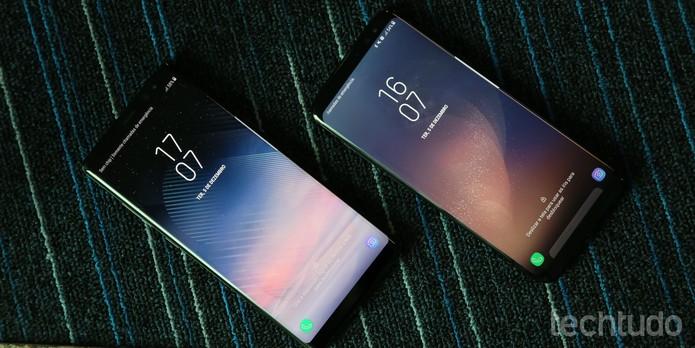 [marca] Galaxy Note 8 e Galaxy S8 (Foto: Luciana Maline/TechTudo)