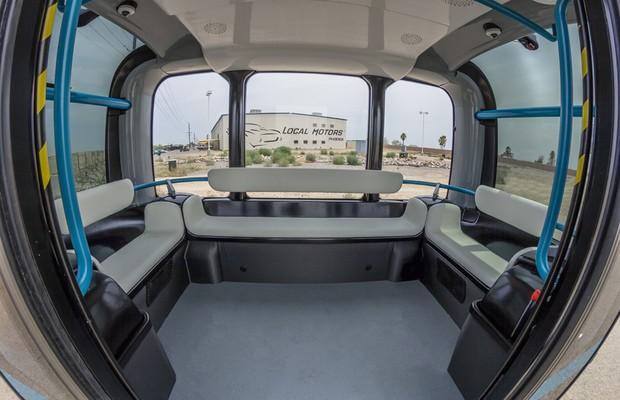 Interior do Olli, veículo elétrico e autônomo da Local Motors (Foto: Divulgação)