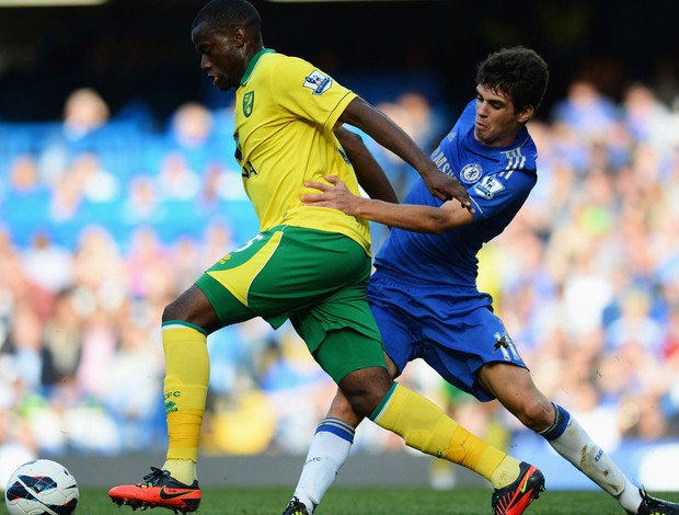 oscar chelsea Bassong norwich (Foto: Agência Getty Images)