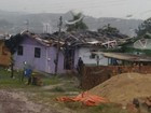 Chuva forte destelha casas e derruba árvores em Santa Catarina
