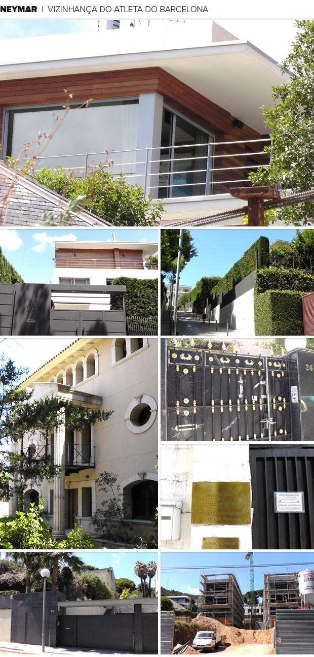 Mosaico casa Neymar (Foto: Editoria de Arte)