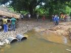 Sete dias após ponte desabar, Derba libera desvio entre cidades na Bahia