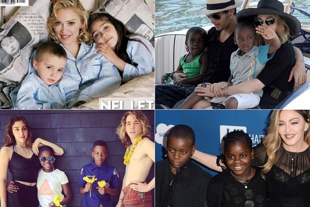 Crianças - Filhos de Madonna (Foto: Instagram / Reprodução - GETTY IMAGES NORTH AMERICA / AFP)