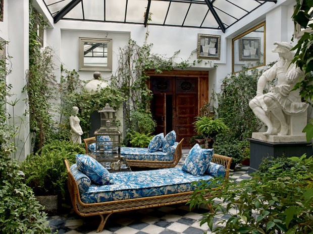 Jardim interno (Foto Simon Upton The Interior Archive)