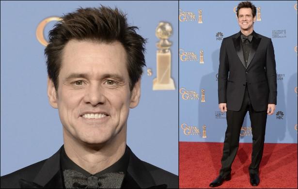 Não é apenas o sorriso de Jim Carrey que é enorme. O ator mede 1,87m. (Foto: Getty Images)