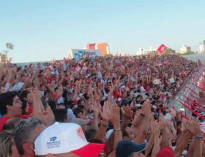 Torcida do Potiguar de Mossoró lota o Nogueirão (Foto: Divulgação/ Potiguar)