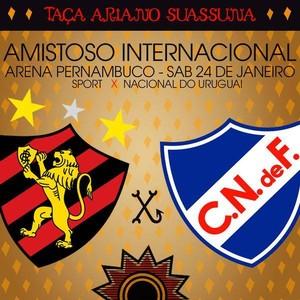 amistoso internacional Sport x Nacional-URU (Foto: Assessoria Sport/Divulgação)