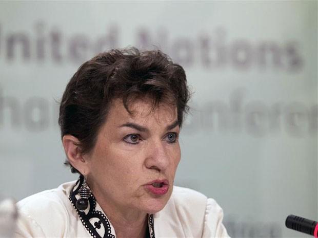 A secretária-executiva da UNFCCC, Christiana Figueres, em entrevista realizada nesta terça-feira (2), nos Estados Unidos (Foto: Rogan Ward/Reuters)