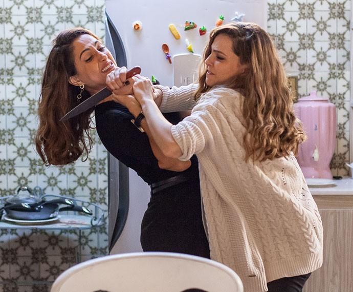 Mas Regina não se intimida (Foto: Artur Meninea/Gshow)