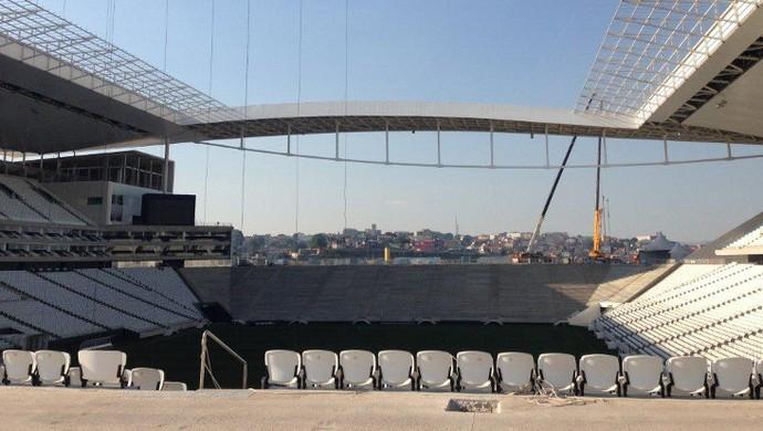Setor Norte da Arena Corinthians sem estruturas provisórias (Foto: Divulgação )