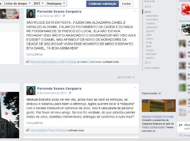 Mensagens publicadas por perfil falso citavam prefeito (Foto: Assessoria de Imprensa / Prefeitura de São Roque)