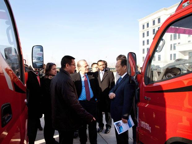 Comitiva do governo gaúcho visitou fábrica na China (Foto: Caco Argemi/Divulgação/Palácio Piratini)