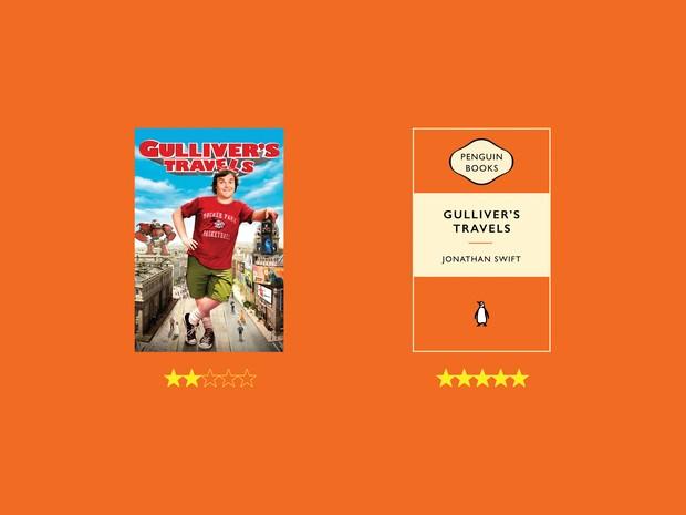Anúncio da Y&R para a Penguin mostra que livros costumam ser melhor avaliados que filmes (Foto: Divulgação)