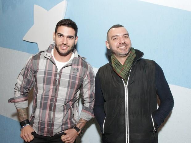 Ex-BBBs Rodrigo e Vagner em festa em São Paulo (Foto: Paduardo/ Ag. News)