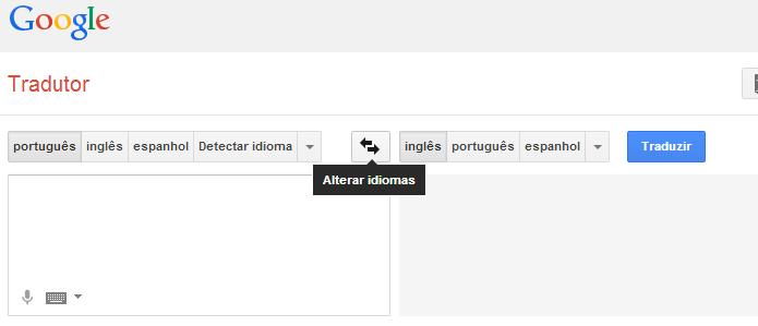Alternando o idioma da tradução (Foto: Reprodução/Edivaldo Brito)