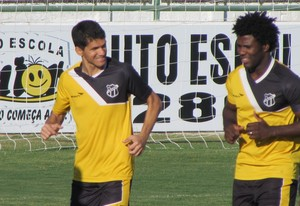 Diego Ivo, Sandro, Magno Alves, treino, Ceará (Foto: Juscelino Filho)