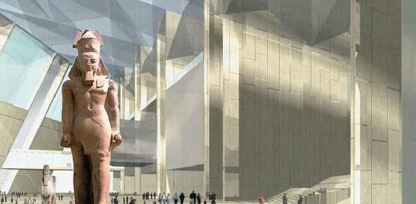 Museu no Egito promete ser a maior instituição arqueológica do mundo (Foto: Divulgação)