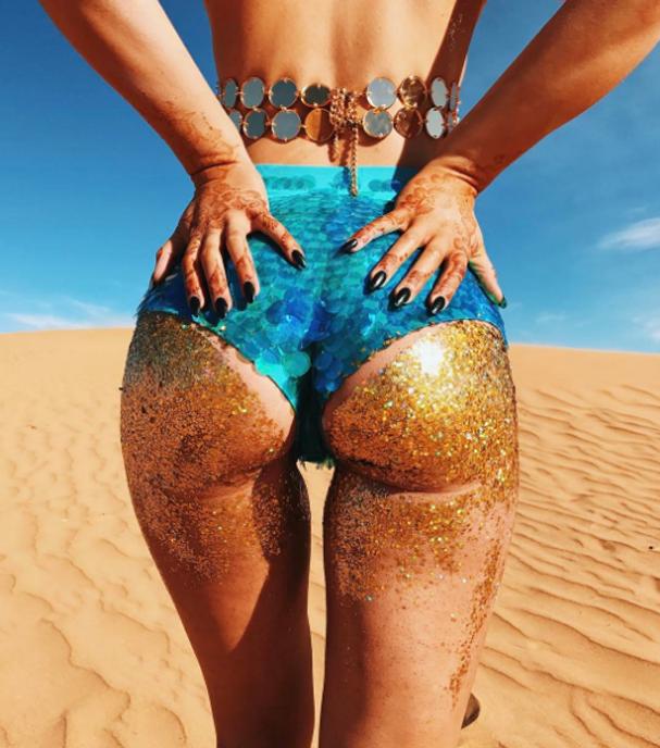 Glitter corporal (Foto: Reprodução/Instagram)